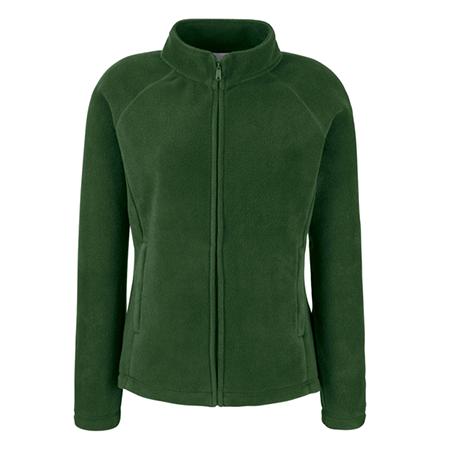 Lady Fit Outdoor Fleece Jacket in bottle-green