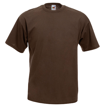Value T-Shirt in chocolate