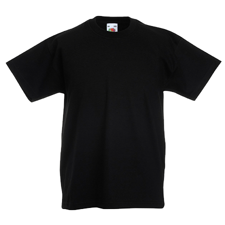 Kids Value T-Shirt in black