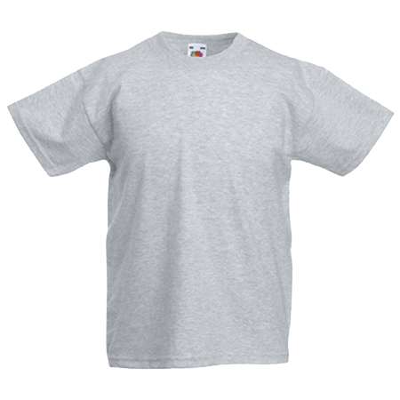 Kids Value T-Shirt in heather-grey