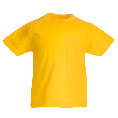 Kids Value T-Shirt in sunflower