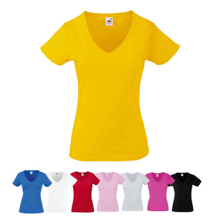 Lady Fit Value V Neck T-Shirt in