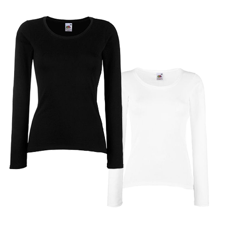 Lady Fit Value Long Sleeve T-Shirt in
