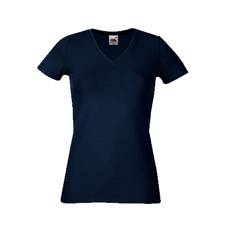 Lady Fit V Neck T-Shirt in deep-navy