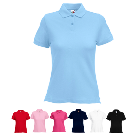 Lady Fit Pique Polo Shirt in