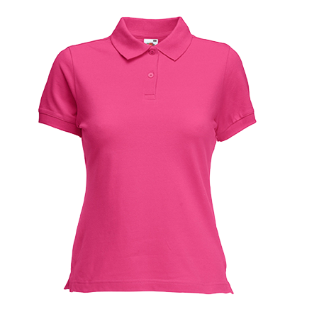 Lady Fit Pique Polo Shirt in fuchsia
