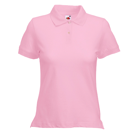 Lady Fit Pique Polo Shirt in light-pink