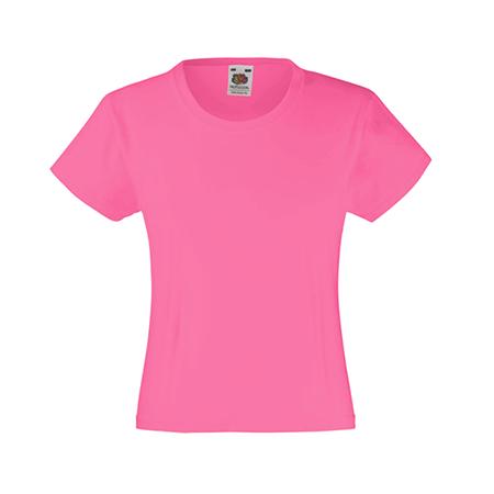 Girls Value T-Shirt in fuchsia