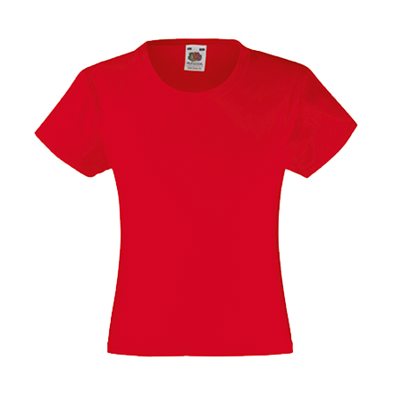 Girls Value T-Shirt in red
