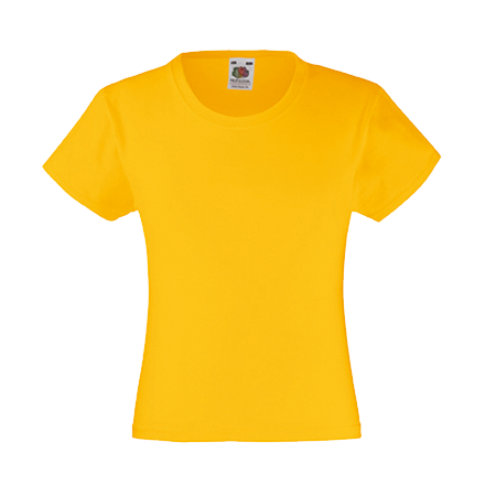 Girls Value T-Shirt in yellow