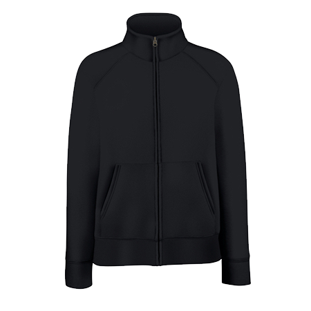Lady Fit Sweat Jacket in black