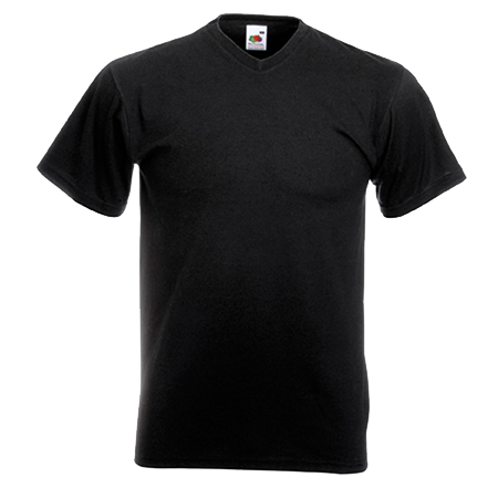 V Neck Value T-Shirt in black