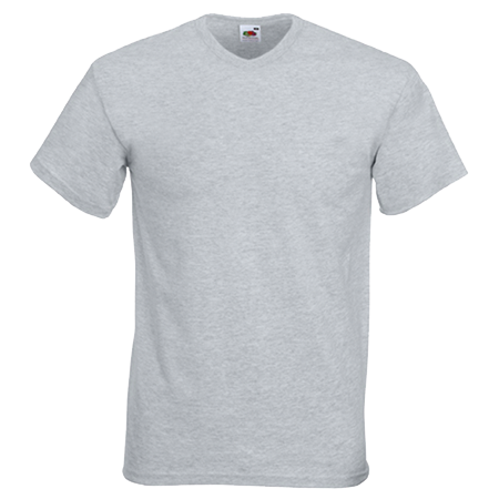 V Neck Value T-Shirt in heather-grey