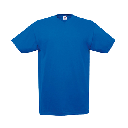 V Neck Value T-Shirt in royal-blue