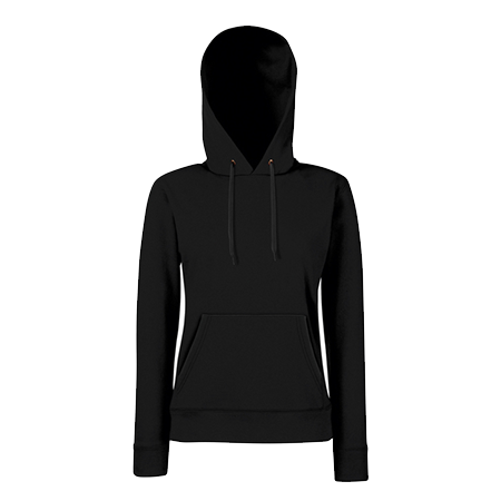 Lady Fit Hooded Sweat in black
