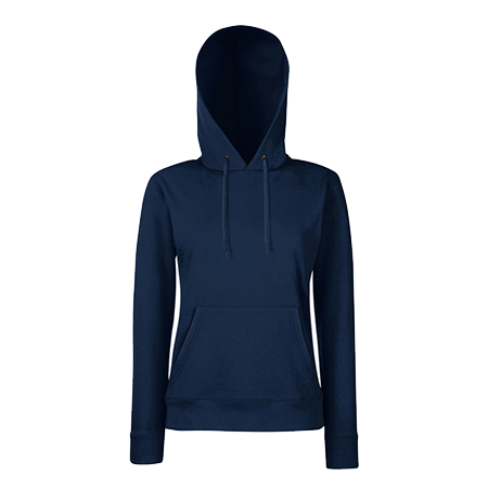 Lady Fit Hooded Sweat in deep-navy