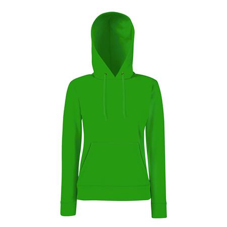 Lady Fit Hooded Sweat in kelly-green