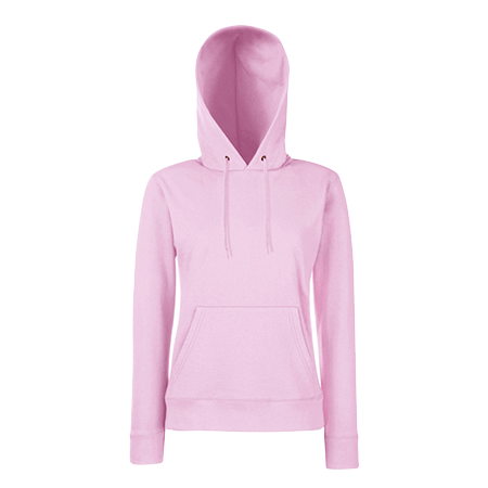 Lady Fit Hooded Sweat in light-pink