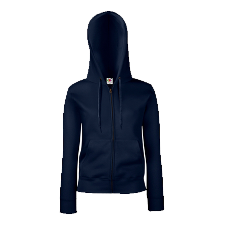 Lady Fit Zip Hooded Jacket in deep-navy