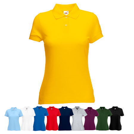 Lady Fit Poly Cotton Pique Polo Shirt