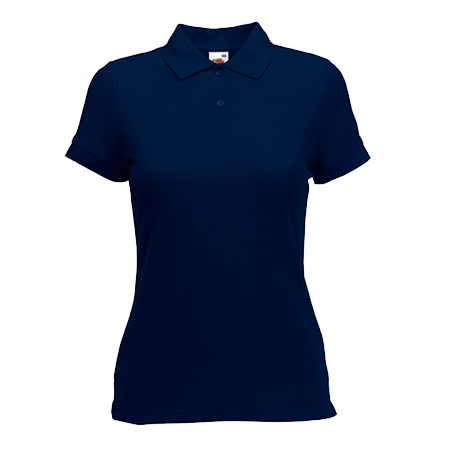 Lady Fit Poly Cotton Pique Polo Shirt in deep-navy