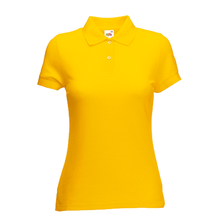 Lady Fit Poly Cotton Pique Polo Shirt in sunflower