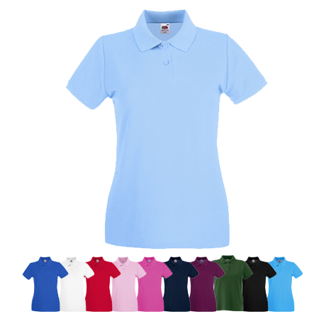 Lady Fit Premium Pique Polo Shirt in white