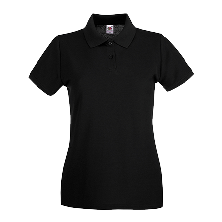 Lady Fit Premium Pique Polo Shirt in black