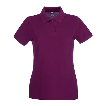 Lady Fit Premium Pique Polo Shirt in burgundy