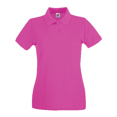 Lady Fit Premium Pique Polo Shirt in fuchsia