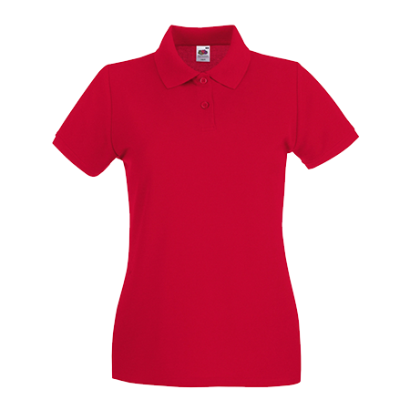 Lady Fit Premium Pique Polo Shirt in red