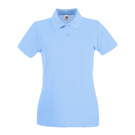 Lady Fit Premium Pique Polo Shirt in sky-blue