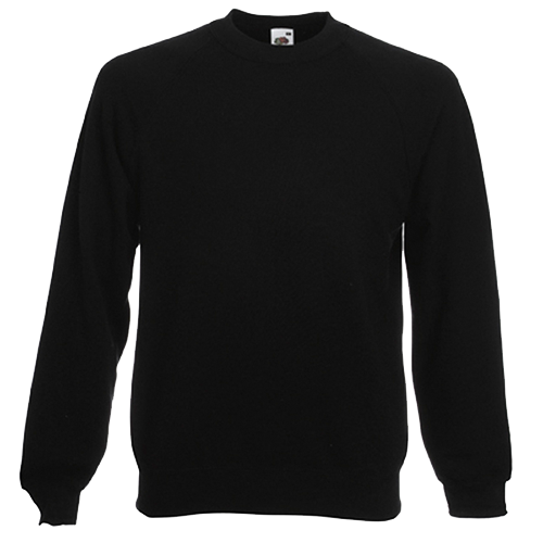 Raglan Sweatshirt in black