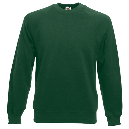 Raglan Sweatshirt in bottle-green