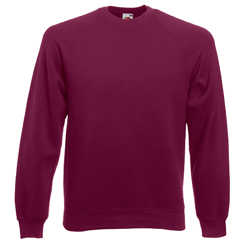 Raglan Sweatshirt in burgundy