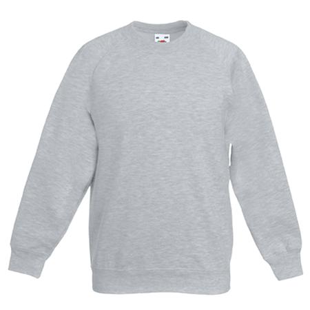 Kids Raglan Sweatshirt in heather-grey