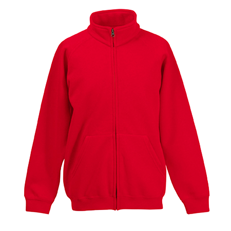 Kids Sweat Jacket in red
