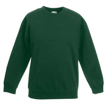 Kids Drop Shoulder Sweatshirt in bottle-green