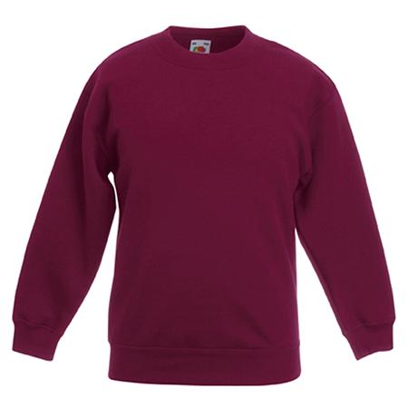 Kids Drop Shoulder Sweatshirt in burgundy