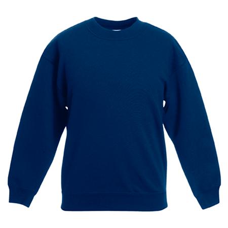Kids Drop Shoulder Sweatshirt in navy