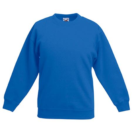Kids Drop Shoulder Sweatshirt in royal-blue