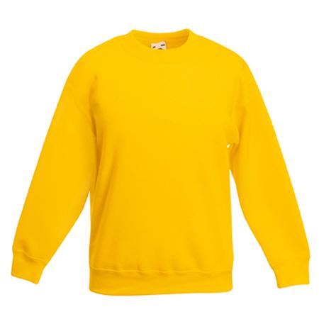 Kids Drop Shoulder Sweatshirt in sunflower