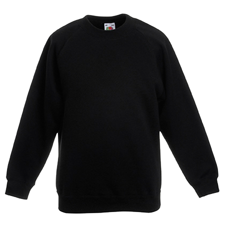 Kids Premium Raglan Sweatshirt in black
