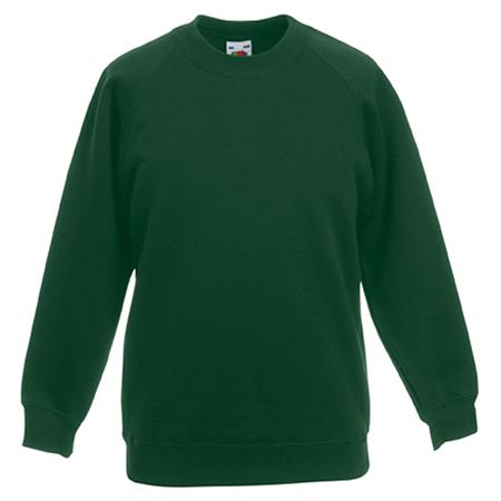 Kids Premium Raglan Sweatshirt in bottle-green