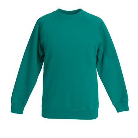 Kids Premium Raglan Sweatshirt in emerald