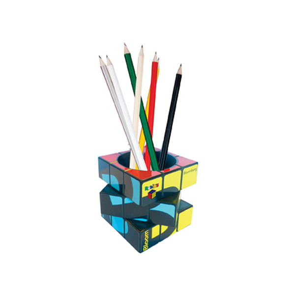 Rubik's Pen Pot in black