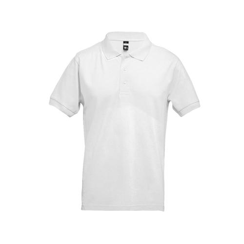 ADAM. Men's polo shirt in white