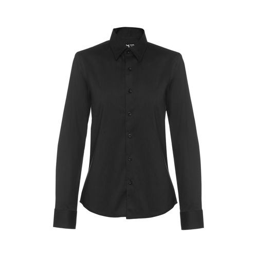 BATALHA WOMEN. Women's poplin shirt in black