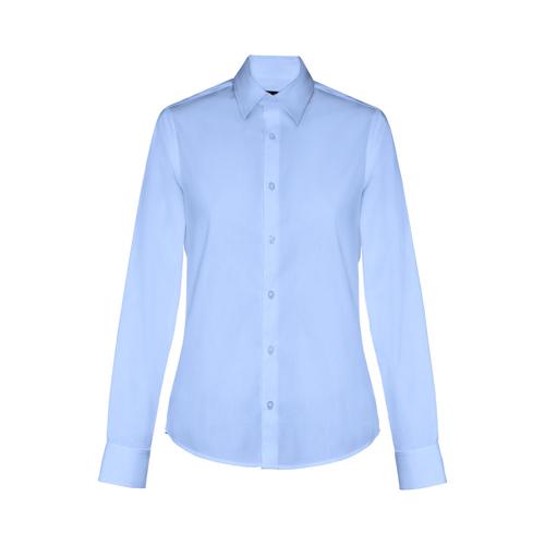 BATALHA WOMEN. Women's poplin shirt in cyan