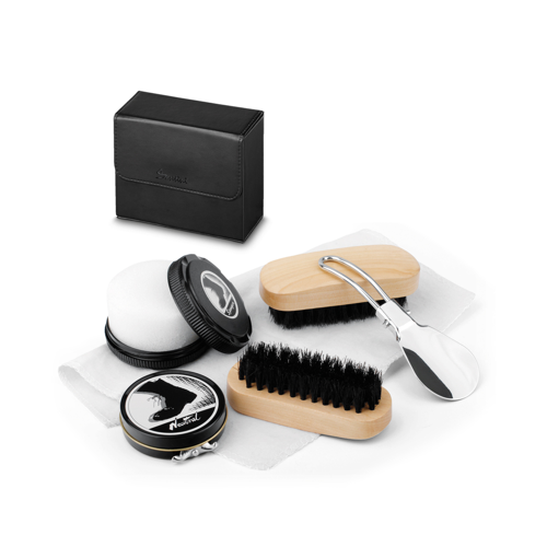 MARILOU. Travel set for shoe cleaning in black